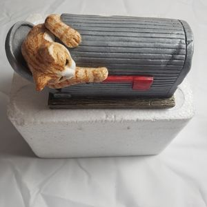 Purrfect Pet Mailbox Meddler Cat sculpture